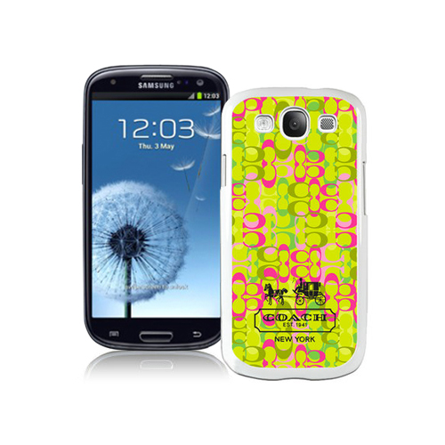 Coach In Confetti Signature Green Samsung Galaxy S3 9300 BGF