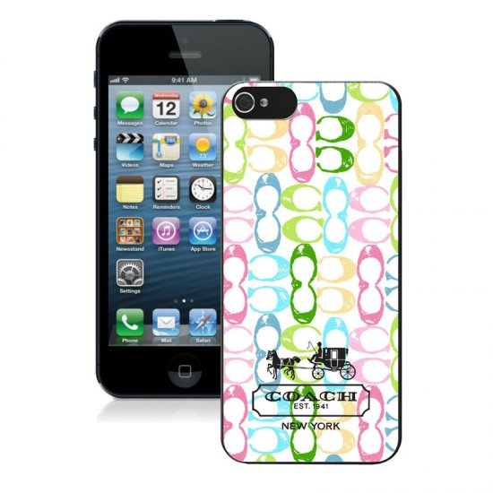 Coach Logo Monogram Multicolor iPhone 5 5S Cases AUG