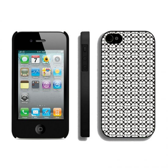 Coach In Confetti Signature Black iPhone 4 4S Cases AIR
