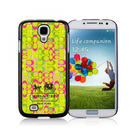 Coach In Confetti Signature Green Samsung Galaxy S4 9500 AJT