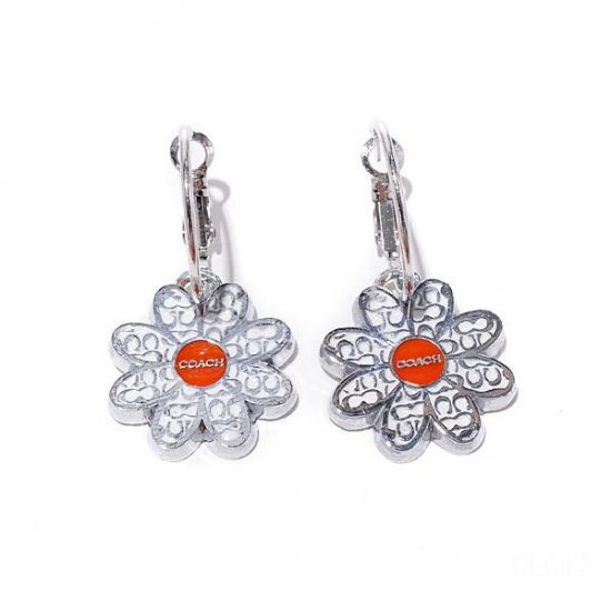 Coach Flower Silver Earrings CVQ