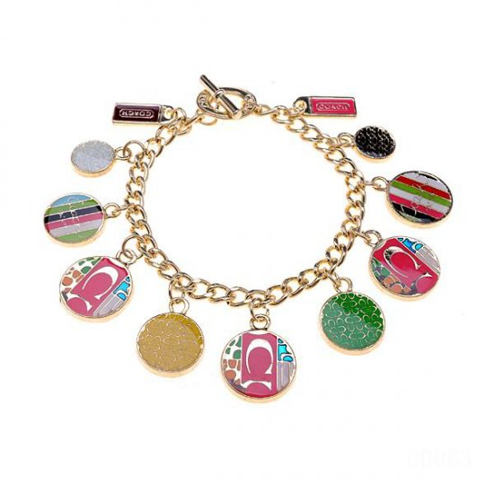 Coach Fashion Logo Gold Bracelets CWP