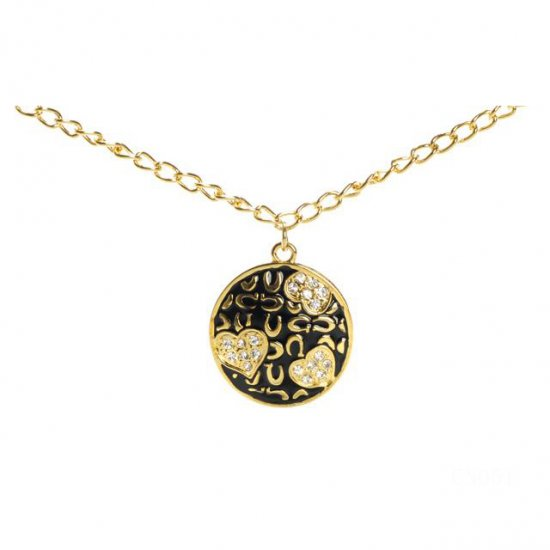 Coach Heart Logo Gold Necklaces CYB