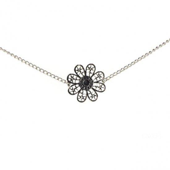 Coach Flower Silver Necklaces CYC