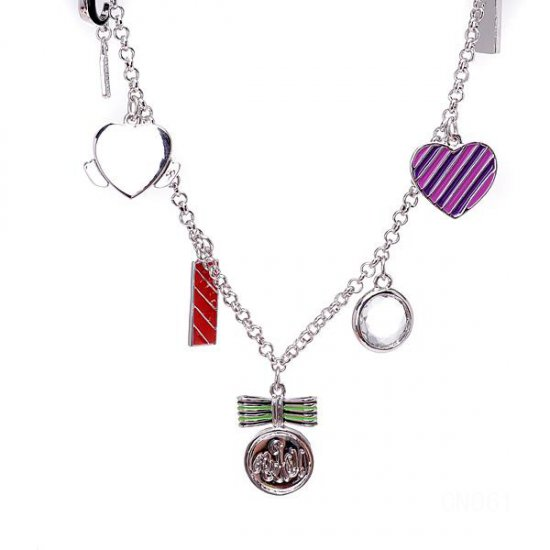 Coach Charm Silver Necklaces CYJ