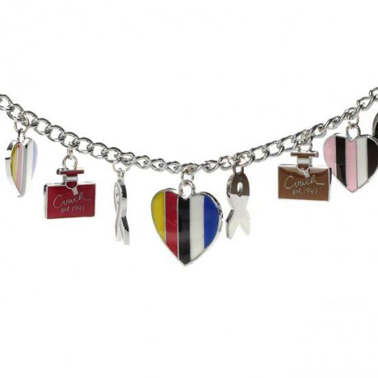 Coach Cute Charm Silver Necklaces CZQ