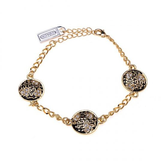Coach Signature C Disc Gold Bracelets BZO