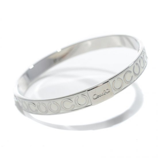 Coach Thin Op Art Pave White Bracelets BZZ