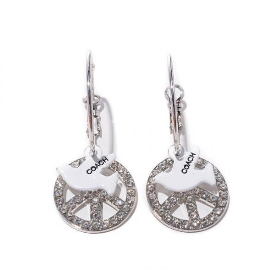 Coach Pigeon Logo Silver Earrings BIE