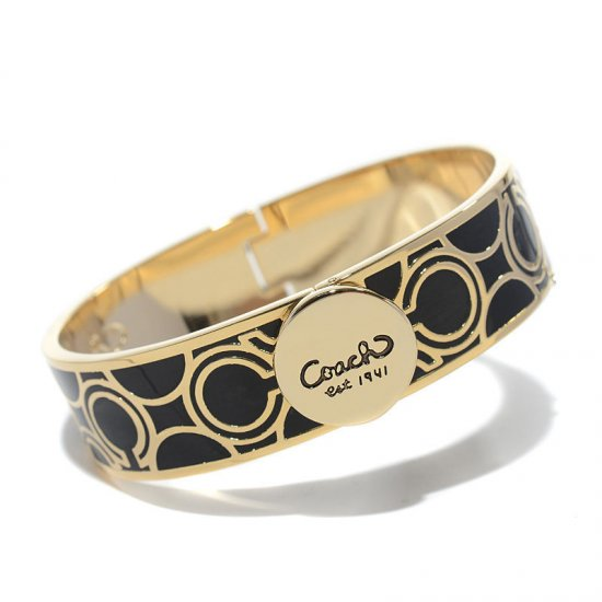 Coach Linked Signature C Black Bracelets AKU