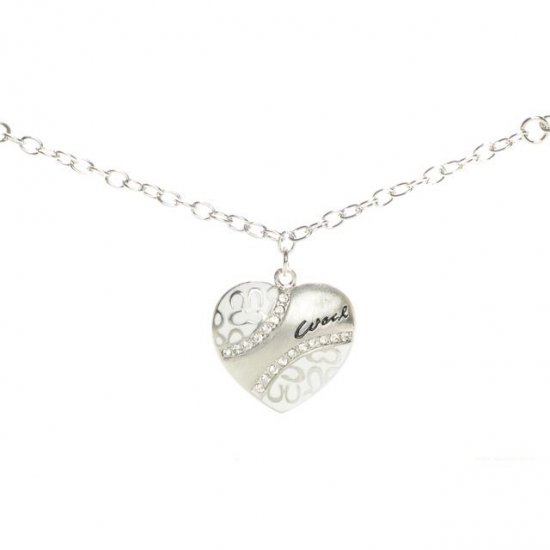 Coach Love Heart White Necklaces ALM