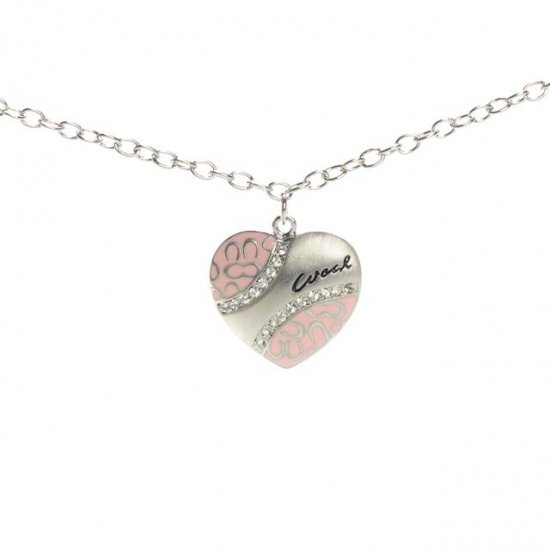 Coach Love Heart Pink Necklaces ALO