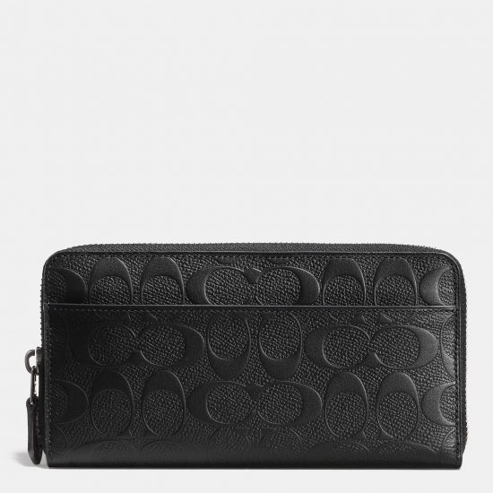 ACCORDION WALLETIN SIGNATURE CROSSGRAIN LEATHER