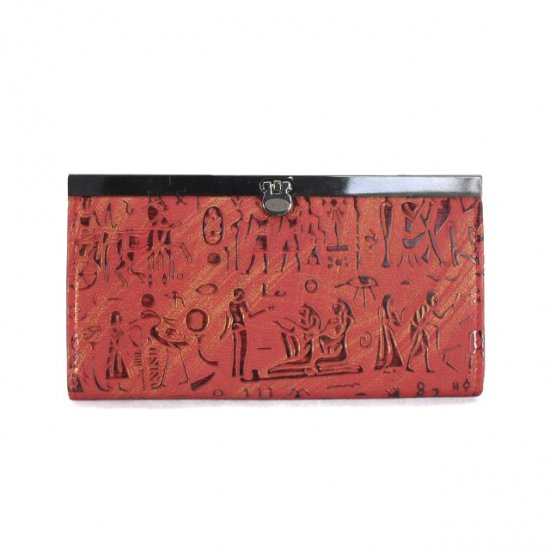 Coach Egyptian Wall Painting Large Red Wallets EDZ