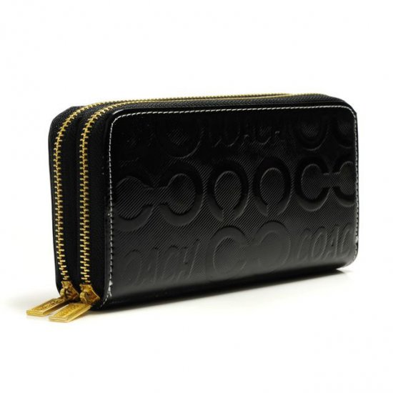 Coach In Signature Large Black Wallets ARW