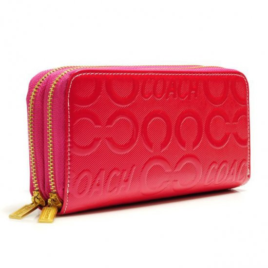 Coach In Signature Large Fuchsia Wallets ARX