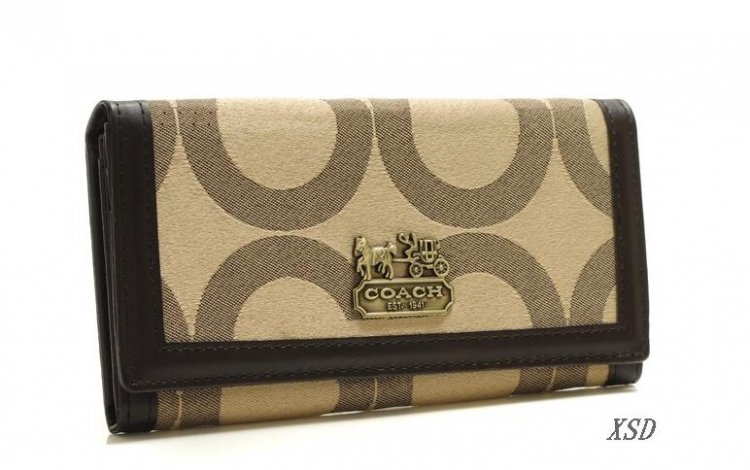 Coach Envelope Big Logo Small Ivory Wallets FEZ