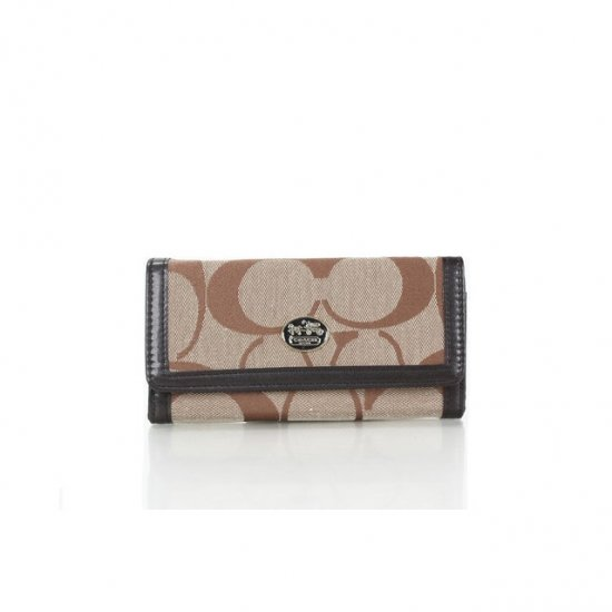 Coach Envelope Big Logo Small Apricot Wallets FFA