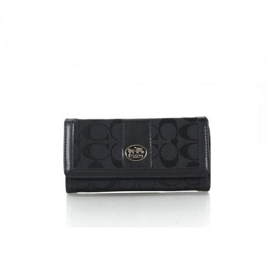 Coach Envelope in Signature Small Black Wallets FFC