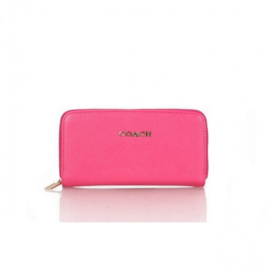 Coach Zip In Saffiano Small Pink Wallets FFH