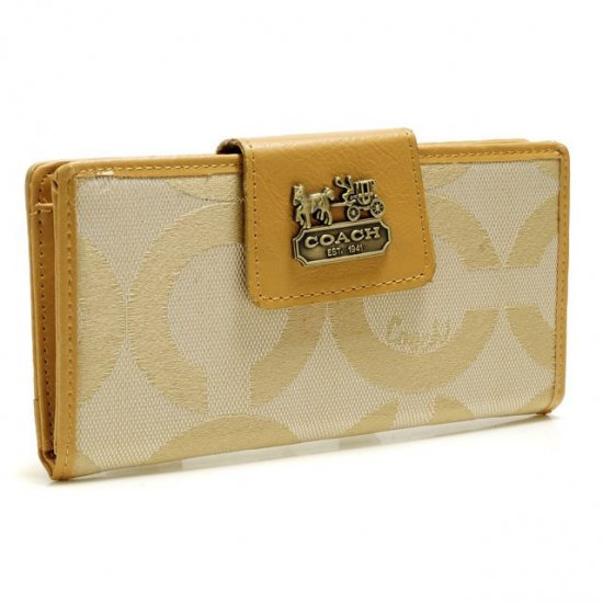 Coach In Signature Large Yellow Wallets ART