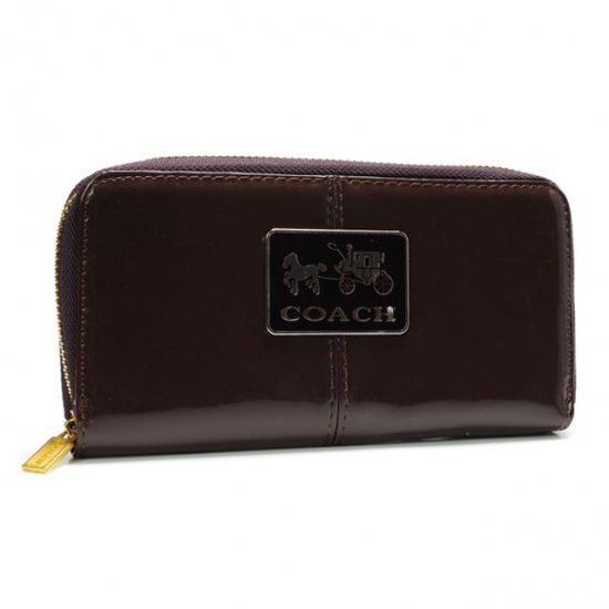 Coach Madison Smooth Large Coffee Wallets AGY