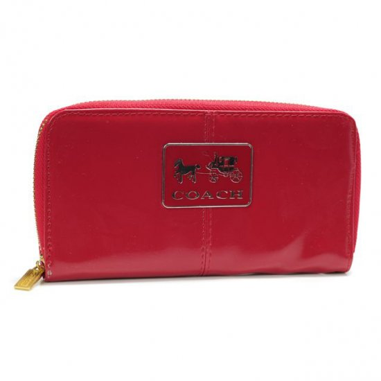 Coach Madison Smooth Large Red Wallets AGZ