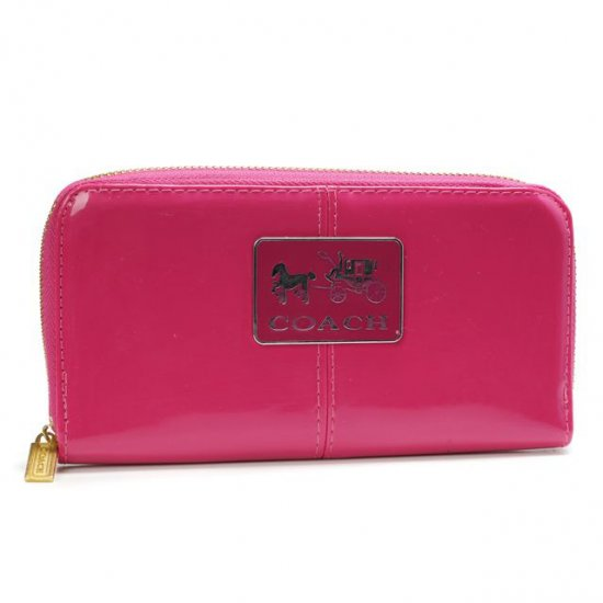 Coach Madison Smooth Large Pink Wallets AHD