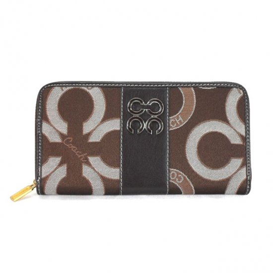 Coach Waverly Flower Charm Large Coffee Wallets EEI