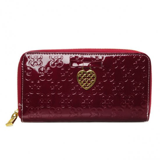 Coach Waverly Hearts Accordion Zip Large Red Wallets DVH