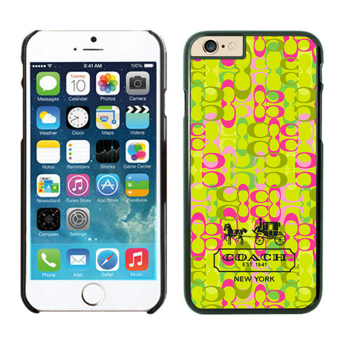 Coach In Confetti Signature Green iPhone 6 Cases EYJ