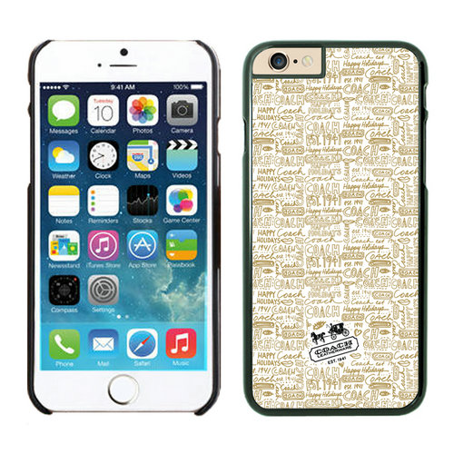 Coach Fashion Logo Khaki iPhone 6 Cases EYL