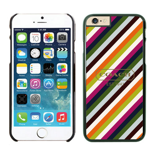 Coach Stripe Multicolor iPhone 6 Cases EYZ