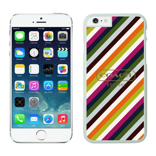 Coach Stripe Multicolor iPhone 6 Cases EZA