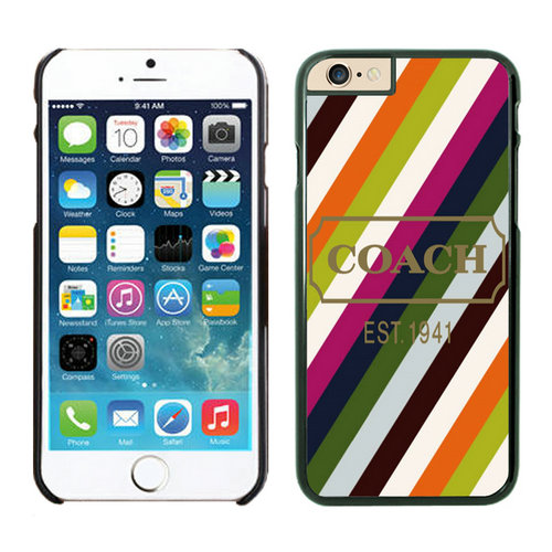 Coach Stripe Multicolor iPhone 6 Cases EZP