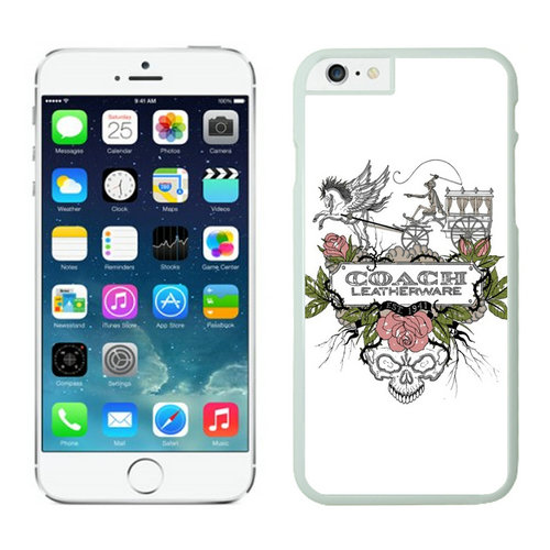 Coach Carriage Logo White iPhone 6 Cases EZY