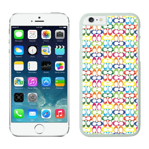 Coach Logo Multicolor iPhone 6 Cases FBA