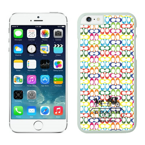 Coach In Confetti Signature Multicolor iPhone 6 Cases FBC