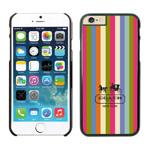 Coach Stripe Multicolor iPhone 6 Cases FBF