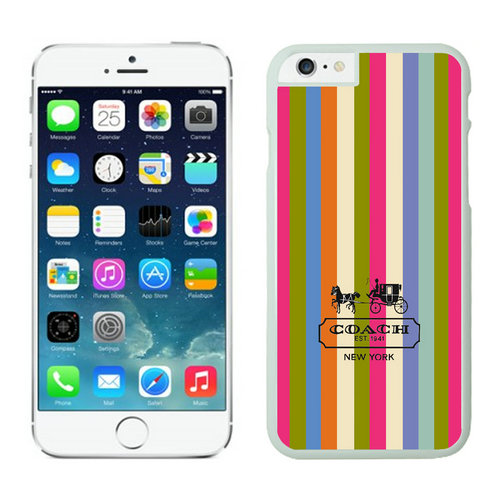 Coach Stripe Multicolor iPhone 6 Cases FBG