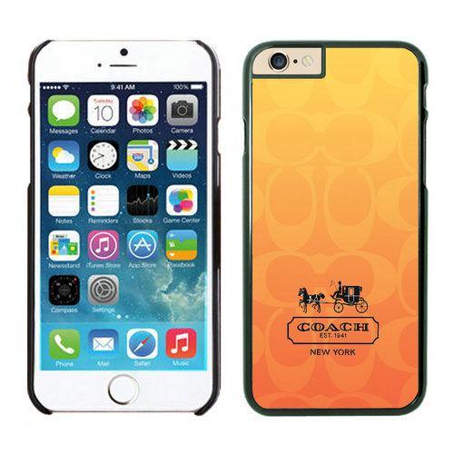 Coach In Signature Orange iPhone 6 Cases FBH