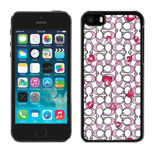 Coach Love Logo Pink iPhone 5C Cases DQQ