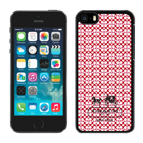 Coach In Confetti Signature Red iPhone 5C Cases DRK