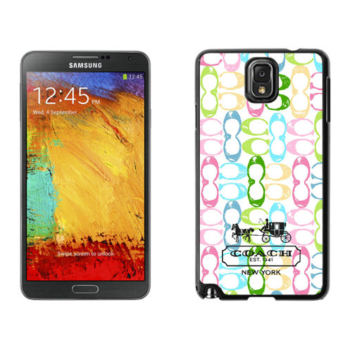 Coach Logo Monogram Multicolor Samsung Note 3 Cases DRX
