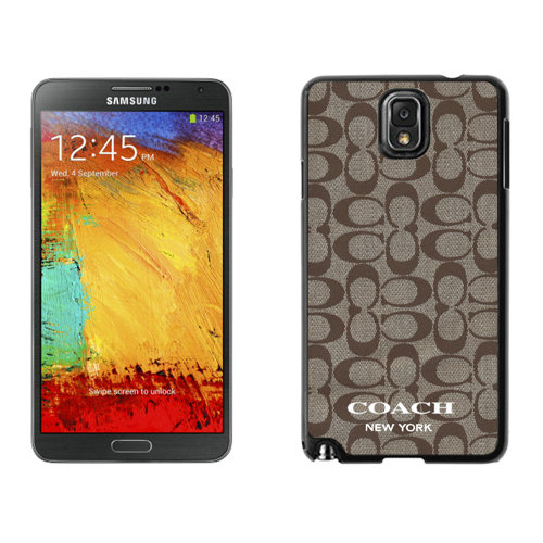 Coach Logo Signature Beige Samsung Note 3 Cases DSC