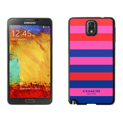 Coach Stripe Multicolor Samsung Note 3 Cases DSD