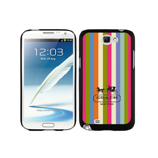 Coach Stripe Multicolor Samsung Note 2 Cases DTF