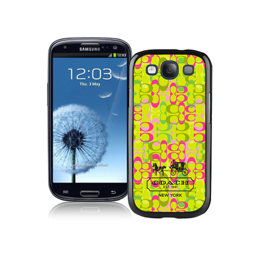 Coach In Confetti Signature Green Samsung Galaxy S3 9300 BGV