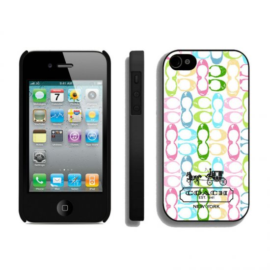 Coach Logo Monogram Multicolor iPhone 4 4S Cases AUA