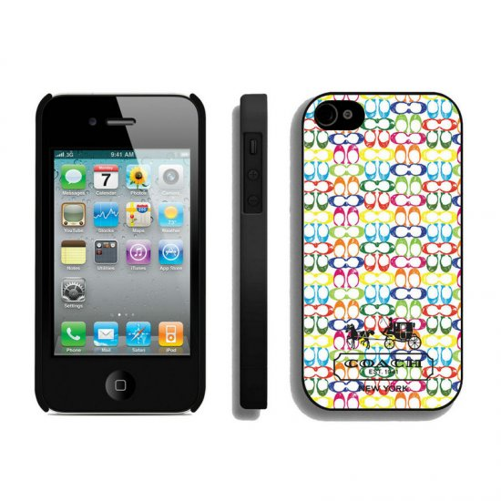 Coach Logo Multicolor iPhone 4 4S Cases AUE
